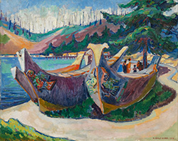 Emily Carr - War Canoes
