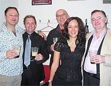 Marion Newman with Nico Castel, Donna Faulkner and Michael McMahon